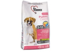 1st Choice Dog Puppy Sensitive Skin & Coat 2,72kg